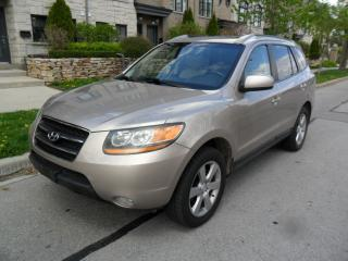 Used 2008 Hyundai Santa Fe LIMITED AWD LEATHER CERTIFIED NO ACCIDENTS for sale in Etobicoke, ON