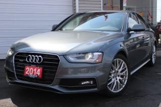 Used 2014 Audi A4 2.0L Quattro. S Line. Navi. Camera. Extra Clean for sale in North York, ON