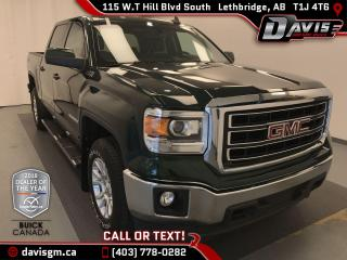 Used 2015 GMC Sierra 1500 SLE REAR VISION CAMERA, BLUETOOTH, REMOTE START for sale in Lethbridge, AB