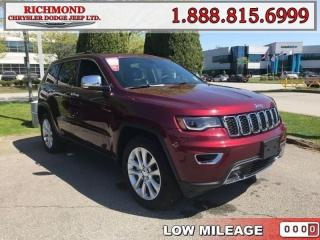Used 2017 Jeep Grand Cherokee Limited for sale in Richmond, BC