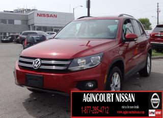 Used 2015 Volkswagen Tiguan Comfortline |AWD|LEATHER|BACKUP CAMERA|PANORAMIC SUNROOF| for sale in Scarborough, ON