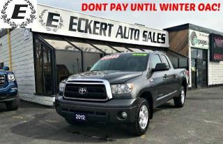 Used 2012 Toyota Tundra SR5 DOUBLE CAB 4X4 for sale in Barrie, ON