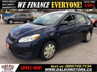 Used 2011 Toyota Matrix TEST DRIVE TODAY| CERTIFIED for sale in Hamilton, ON