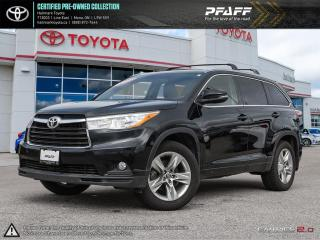 Used 2016 Toyota Highlander LTD AWD FULLY LOADED, SUNROOF LEATHER,NAVI AND MORE for sale in Mono, ON