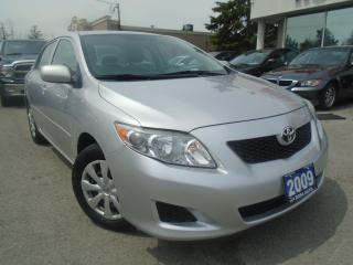 Used 2009 Toyota Corolla AUTO LOW KM 1 OWNER PW PL PM CRUISE SAFETY KEYLESS for sale in Oakville, ON