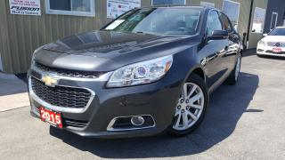 Used 2015 Chevrolet Malibu 2LT-REMOTE START-TOUCH SCREEN-FACTORY WARRANTY for sale in Tilbury, ON