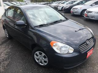Used 2010 Hyundai Accent GL/ECO FRIENDLY/AUX INPUT/STEERING CONTROLS/CLEAN! for sale in Scarborough, ON