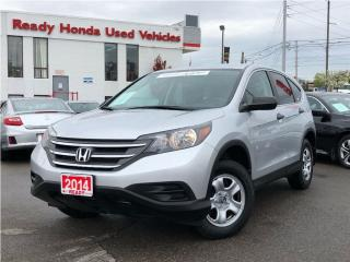 Used 2014 Honda CR-V LX - Rear Camera - Bluetooth for sale in Mississauga, ON