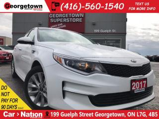 Used 2017 Kia Optima LX+ | 50K km | BACK UP CAM | LEATHER | KEYLESS for sale in Georgetown, ON