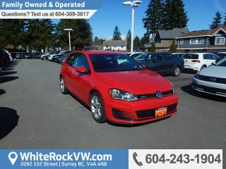 Used 2015 Volkswagen Golf GTI 3-Door Heated Front Seats, Radio Data System & remote Keyless Entry for sale in Surrey, BC