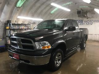 Used 2011 RAM 1500 RAM 1500*QUADCAB*4WD*HEMI*SIDE STEP*CHROME RIMS*HOOD DEFLECTOR*RAIN GUARDS*BOX LINER*TOW/HAUL MODE*HITCH RECEIVER w/PIN CONNECTOR* for sale in Cambridge, ON