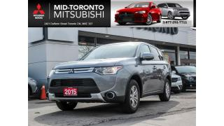 Used 2015 Mitsubishi Outlander ES One Owner|Alloys|Bluetooth for sale in North York, ON