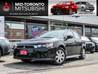 Used 2016 Mitsubishi Lancer ES Auto|Bluetooth|Power Group|Keyless for sale in York, ON