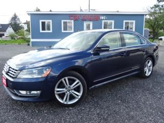 Used 2013 Volkswagen Passat 2.0L TDI COMFORTLINE LEATHER ROOF SAFETY INCLUDED for sale in Guelph, ON