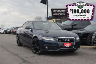 Used 2011 Audi A4 2.0T - sunroof, bluetooth, heated seats for sale in London, ON