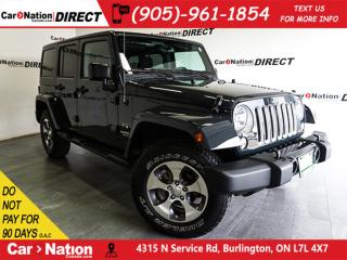 Used 2017 Jeep Wrangler Unlimited Sahara| NAVI| 4X4| TOUCH SCREEN| for sale in Burlington, ON