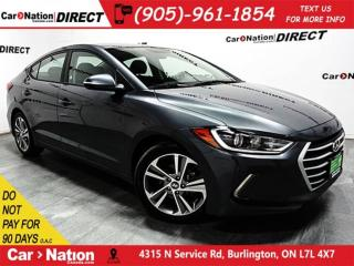 Used 2017 Hyundai Elantra GLS| SUNROOF| BLIND SPOT DETECTION| for sale in Burlington, ON
