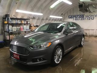 Used 2014 Ford Fusion SE*AWD*NAVIGATION*BACK UP CAMERA*LEATHER*POWER SUNROOF*MICROSOFT SYNC PHONE CONNECT*POWER HEATED FRONT SEATS*ECO BOOST*DUAL ZONE CLIMATE CONTROL* for sale in Cambridge, ON