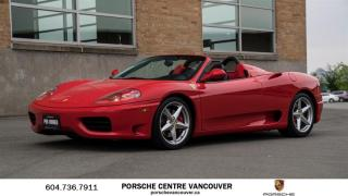 Used 2001 Ferrari 360 Modena 6 SPD *MANUAL*! for sale in Vancouver, BC
