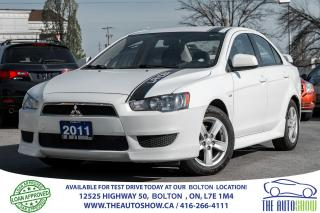 Used 2011 Mitsubishi Lancer SE ACCIDENT FREE, SERVICE RECORDS for sale in Caledon, ON