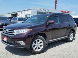 Used 2013 Toyota Highlander 4WD w/all leather,pwr moonroof,climate control,3rd row seating for sale in Cambridge, ON