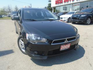 Used 2009 Mitsubishi Lancer SE SE LOW KM  NO ACCIDENTS, PL,PW,PM SAFETY & E TE for sale in Oakville, ON