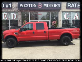 Used 2010 Ford F-250 RARE*6.8L*V10*CREW CAB*8 FT BOX*4X4!!* for sale in York, ON