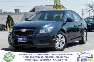 Used 2014 Chevrolet Cruze 1LT 6SPD. 1 OWNER, GM SERVICED, WARRANTY for sale in Caledon, ON
