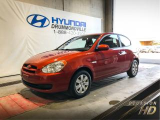 Used 2010 Hyundai Accent GL + BAS KM + A/C + CRUISE + WOW ! for sale in Drummondville, QC