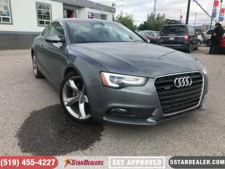 Used 2014 Audi A5 2.0 Komfort | 1 OWNER | LEATHER | ROOF for sale in London, ON