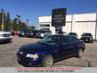 Used 2001 Audi A4 1.8T (A5) | YOU CERTIFY, YOU SAVE for sale in Kitchener, ON