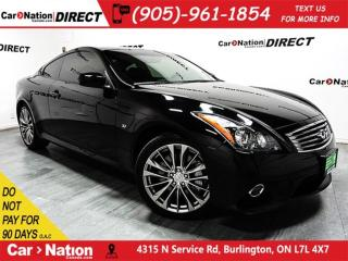 Used 2015 Infiniti Q60 Sport| NAVI| SUNROOF| AWD| LOW KM'S| for sale in Burlington, ON