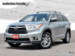 Used 2014 Toyota Highlander XLE Sold Pending Customer Pick Up...Bluetooth, Back Up Camera, Navigation, and More! for sale in Waterloo, ON