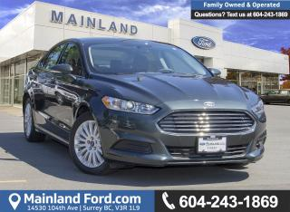 Used 2015 Ford Fusion Hybrid SE *LOW KM* for sale in Surrey, BC