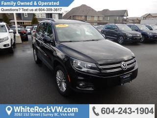 Used 2016 Volkswagen Tiguan Special Edition Heated Front Seats, Rear View Camera & Radio Data System for sale in Surrey, BC