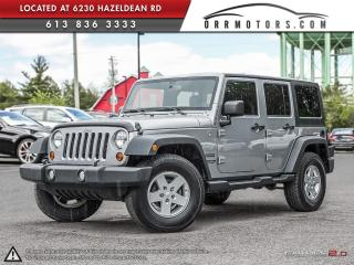 Used 2013 Jeep Wrangler Unlimited Sport 4WD for sale in Stittsville, ON