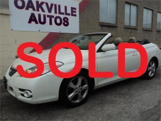 Used 2007 Toyota Camry Solara SLE CONVERTIBLE SAFETY WARRANTY INCL for sale in Oakville, ON