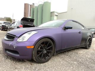 Used 2004 Infiniti G35 Coupe Coupe MANUAL CUSTOM EXHAUST WRAPPED PURPLE for sale in Oakville, ON