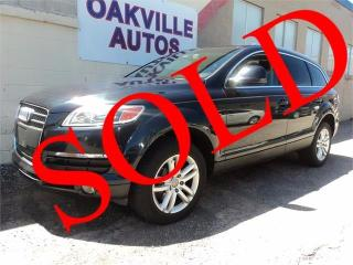 Used 2008 Audi Q7 3.6L  V6 PANORAMIC ROOF LEATHER 5 PASS SAFETY INCL for sale in Oakville, ON