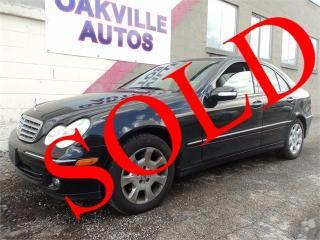 Used 2006 Mercedes-Benz C-Class LOW KM PARK SENSOR LTHR ROOF SAFETY 3.5L for sale in Oakville, ON