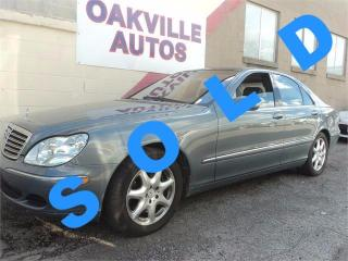 Used 2004 Mercedes-Benz S-Class 4.3L NAVIGATION 4.3L SWB 4MATIC SAFETY INC for sale in Oakville, ON