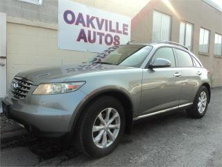 Used 2006 Infiniti FX35 AWD V6 BACKUP CAMERA SAFETY WARRANTY INCL for sale in Oakville, ON
