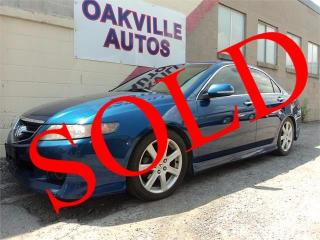 Used 2005 Acura TSX AUTOMATIC LEATHER S/ROOF SAFETY WARRANTY INCL for sale in Oakville, ON