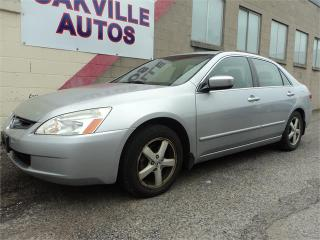 Used 2004 Honda Accord Sdn EX-L LEATHER SUNROOF 4 CYL AUTO SAFETY INC for sale in Oakville, ON
