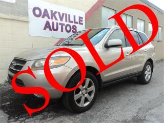 Used 2007 Hyundai Santa Fe GLS 5Pass V6 3.3L LEATHR SUNROOF HTD SEAT SAFETY for sale in Oakville, ON