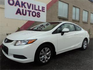 Used 2012 Honda Civic Cpe COUPE LX AUTOMATIC BLUETOOTH SAFETY INCL for sale in Oakville, ON