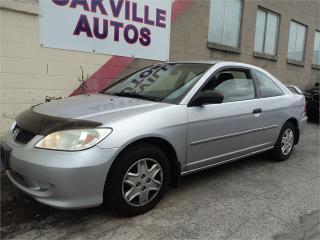 Used 2005 Honda Civic Cpe DX COUPE 2DR AUTOMATIC SAFETY WARRANTY INCL for sale in Oakville, ON