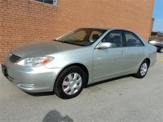 Used 2002 Toyota Camry LE  4 CYLINDER AUTO SAFETY INCL for sale in Oakville, ON