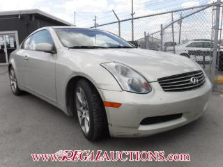 Used 2005 Infiniti G35  2D COUPE for sale in Calgary, AB