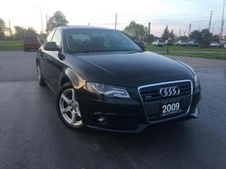 Used 2009 Audi A4 2.0 T Sedan Quattro , Navigation, Ontario Car, Certified for sale in Oakville, ON